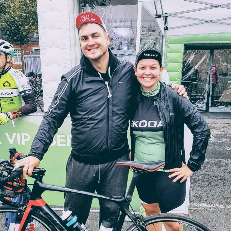 Lächeln, lächeln, Glückshormone! Das Coffee Team nach dem Rennen. Münsterland Giro 2017 Ich hasse laufen Umsturzvegan